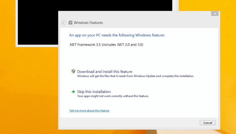 .NET Framework 3.5 в Windows 8.1