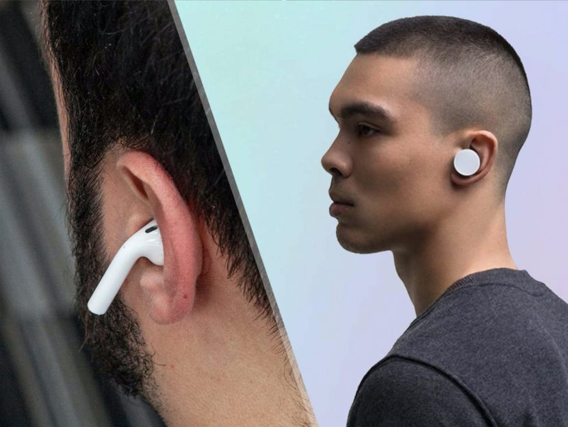 Surface Earbuds vs AirPods в ухе