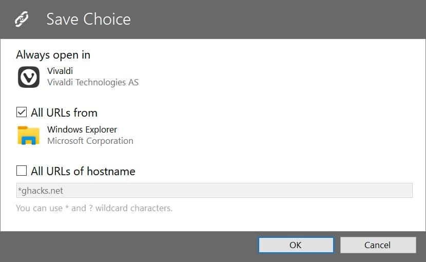 сохранение выбора браузера