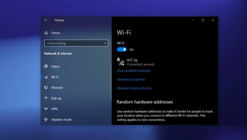 Настройка Wi-Fi Windows 10
