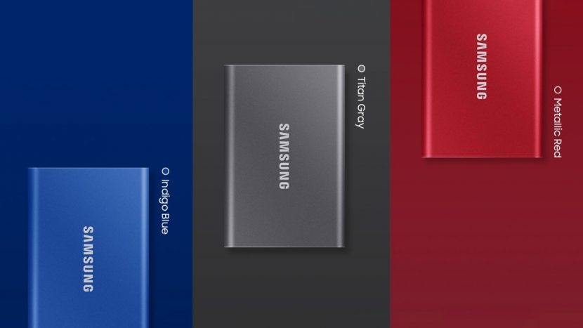 Три цвета портативного SSD Samsung T7